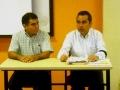 El presidente de FUCOL con Adrián López Virgen, delegado de Coquimatlán
