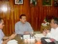 Visita a Héctor Vázquez Montes, presidente municipal de Tecomán