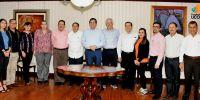 Integrantes de la Fundación Ucol, visitan al Rector de la Universidad de Colima
