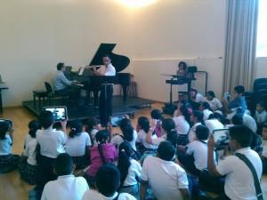 Alumnos de la escuela Francisco Palacios Jiménez