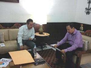 Federico Rangel Lozano, Presidente municipal de Colima, manifestó su compromiso de apoyo a las actividades que realice la Fundación UCOL.
