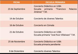 Programa Conciertos