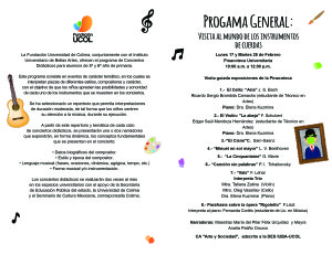 Programa Concierto 25 Febrero