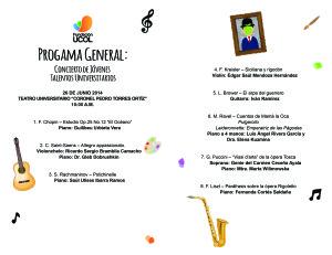 Programa Concierto 26 Jun