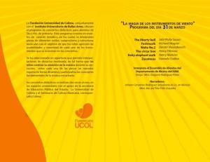 programa concierto 31 Marzo