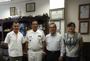 Carlos Salazar, Vicealmirante Arturo David Lendeche Sofán, José Martín Torres Ríos y Ofelia Badillo García