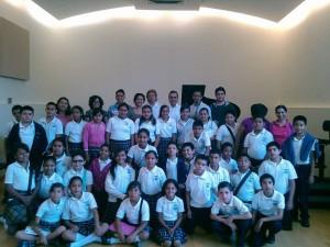 """Alumnos de la escuela primaria """"Francisco Palacios Jiménez"""" en concierto didáctico en el IUBA"""