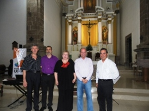 Oleg Vasiliev, Simone Iannarelli, Elena Kuzmina, Enrique Camacho Velasco y Carlos Salazar Silva