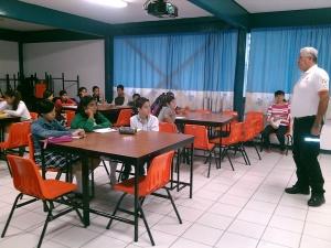 """Alumnos de la secundaria """"Manuel Sandoval Vallarta"""" participan en el segundo módulo del programa Brigadas de Autoprotección"""