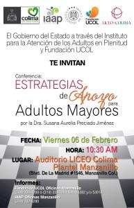Cartel Conferencia Adultos Mayores