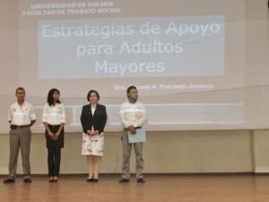 Dra. Susana Aurelia Preciado Jiménez en conferencia Estrategias de Apoyo para los Adultos Mayores