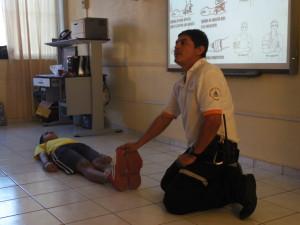 Demostración de ABC en primeros auxilios
