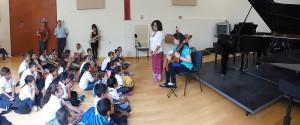 Estudiantes de la escuela primaria J. Jesús Ventura Valdovinos en el Concierto Didáctico en el IUBA