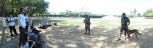 Adiestramiento canino en la VI Región Naval