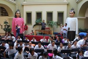 """Estudiantes de la escuela primaria """"Carmen Serdán"""" T.M. en dinámica de identificación de sonidos"""