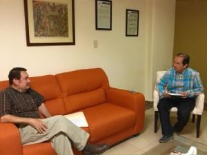 Presidente Fundación Ucol, Francisco Xavier Oldenbourg Ceballos,  se reúne con el Secretario de Educación del Estado, Armando Figueroa Delgado