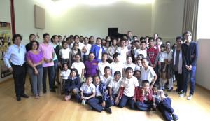 """Estudiantes de la escuela Primaria """"Gustavo Vázquez Montes"""" T.M. en Concierto Didáctico en el IUBA"""