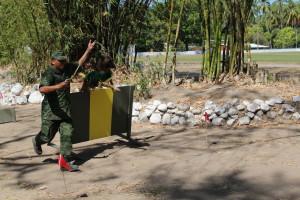 Demostración del departamento de Adiestramiento Canino Militar