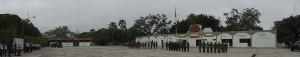 Honores a la Bandera en la XX Zona Militar